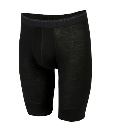 Aclima Lightwool Long Shorts Jet black H...