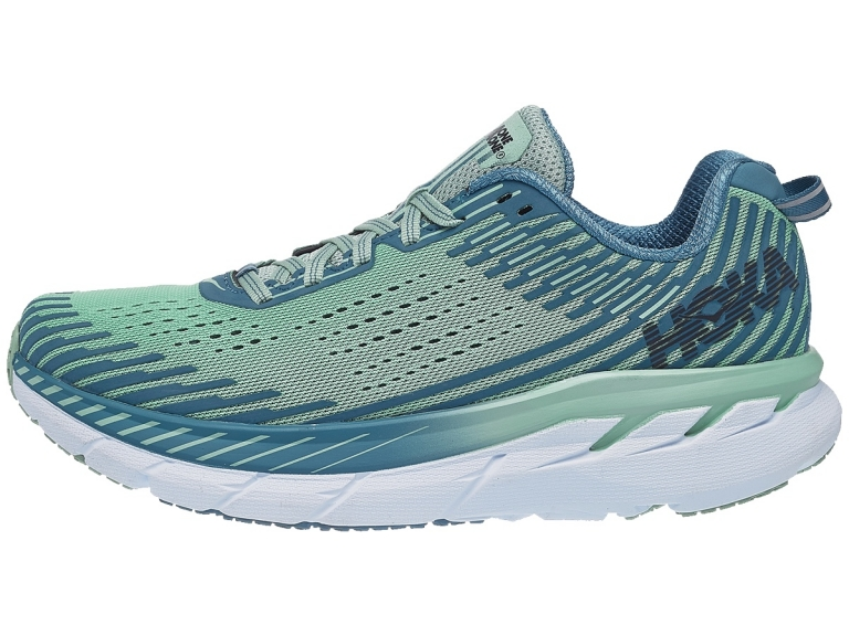 Hoka One One Clifton 5 Dame Lichen/Storm Blue