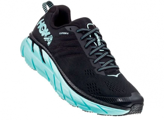 Hoka One One Clifton 6 Dame Black/Aqua S...