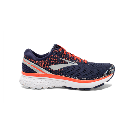 Brooks Ghost 11 Navy/Coral/Grey Dame