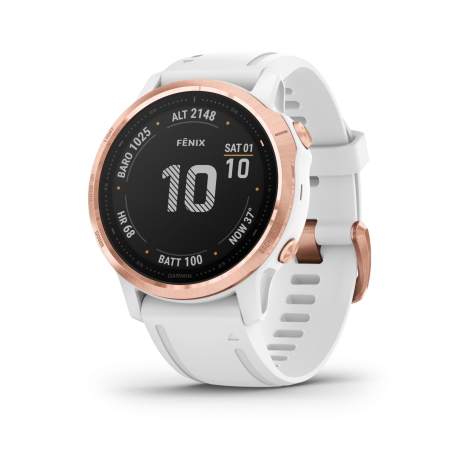 Garmin Fenix 6S Pro Rose Gold/w. White B...