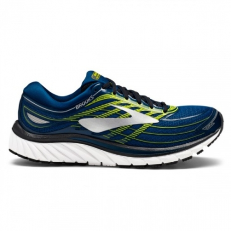 Brooks Glycerin 15 Herre Blue/Lime/Silve...