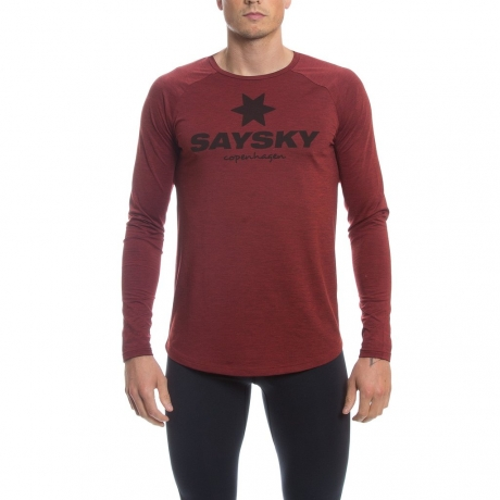Saysky Classic LS Tee Red/Melange