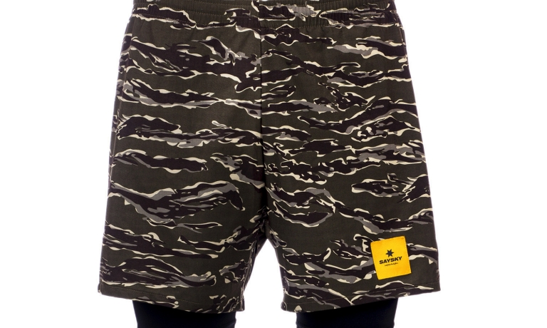 Saysky 2 In 1 Shorts Unisex Forest Tiger...