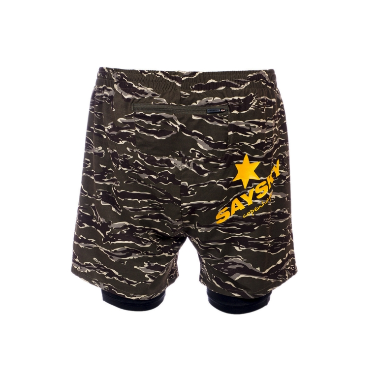 Saysky 2 In 1 Shorts Unisex Forest Tiger Camo