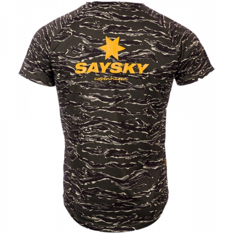 Saysky Pace Tee Unisex Forest Tiger Camo