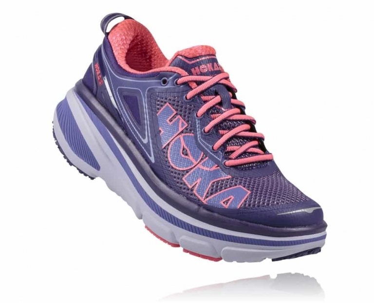 Hoka One One Bondi 4 W Mulberry Purple Neon Pink