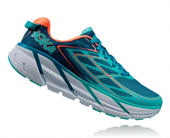Hoka One One Clifton 3 W Blue Jewel / Ne...