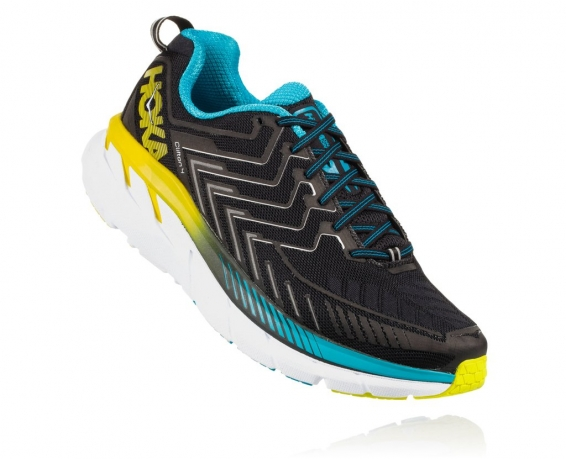 Hoka One One Clifton 4 Black / Cyan / Ci...