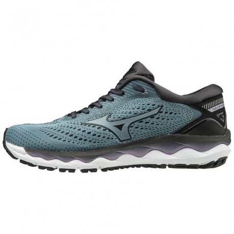 Mizuno Wave Sky 3 Dame - Navy/Sort
