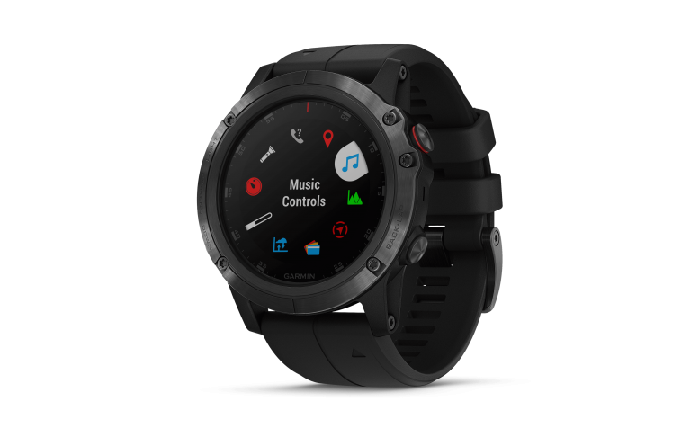 Garmin fenix 5X Plus® Sapphire Black w/Blk Band GPS Watch EMEA