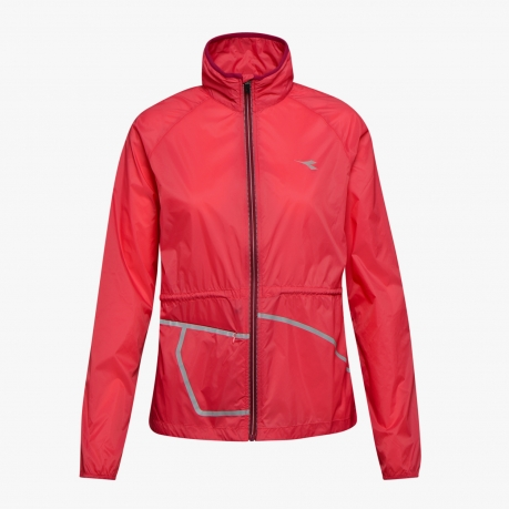 Diadora Wind Jacket Womens Red Flame