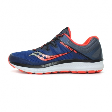 Saucony Guide ISO Blu/Gry/Viz Red Mens