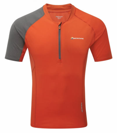 Montane Fang Zip T-Shirt Mens - Red