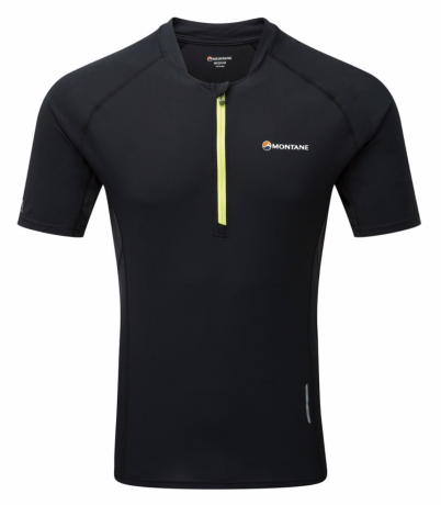 Montane Fang Zip T-Shirt Mens - Black
