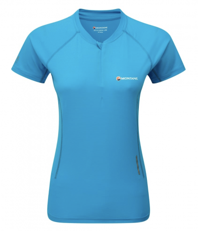 Montane Snap Zip T-Shirt Womens - Blue