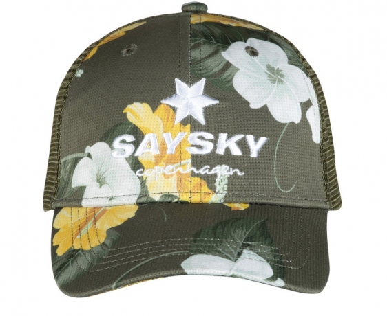 Saysky Trail Cap Green Floral Unisex