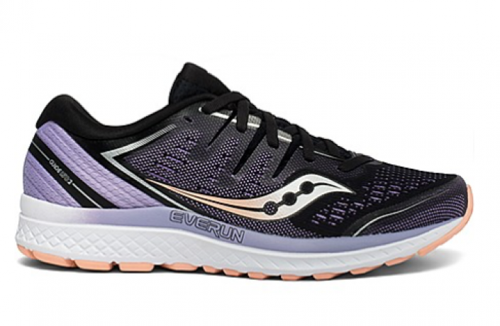 Saucony Guide ISO 2 Dame Black/Purple