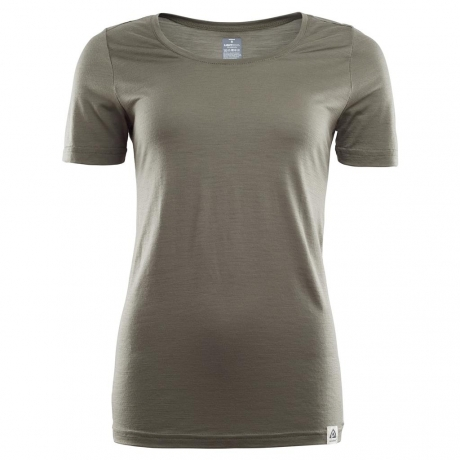 Aclima Lightwool T-shirt Ranger Green Da...