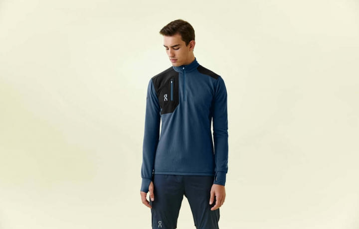 On Weather-Shirt Mens - Navy/Black