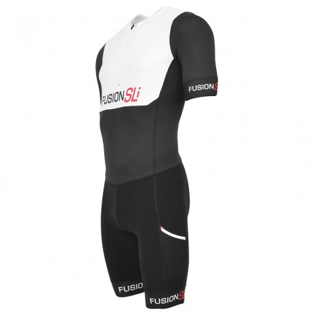 Fusion sli speedsuit - white/black - m