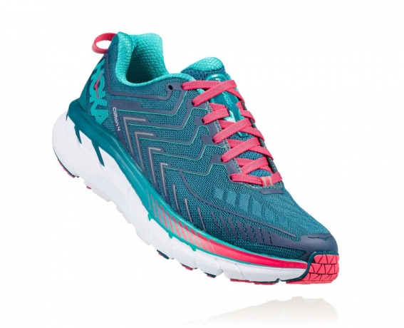Hoka One One Clifton 4 Dame Blue Coral /...