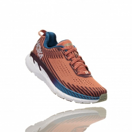 Hoka One One Clifton 5 Dame Emberglow/Fi...