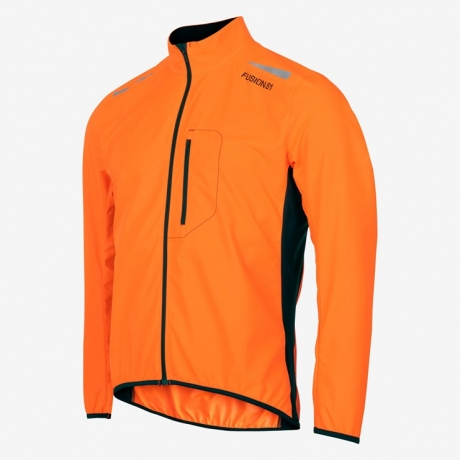 Fusion S1 Run Jacket Herre Hi Vis Orange...