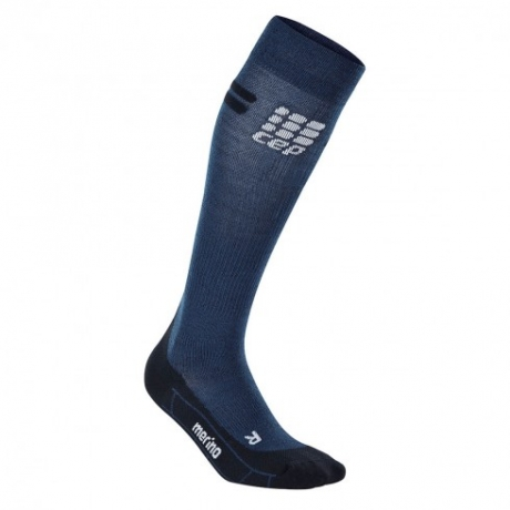 CEP Progressive Run Merino Socks Navy/Bl...