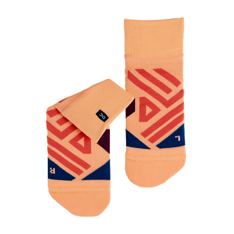 ON Mid Sock W Coral/Navy