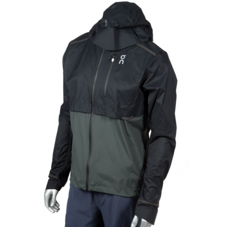 On Weather-Jacket Mens Black/Shadow