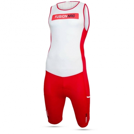 Fusion Multisport Rear Zip Suit Red