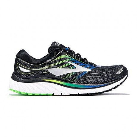 Brooks Glycerin 15 Herre Black/Blue/Gree...