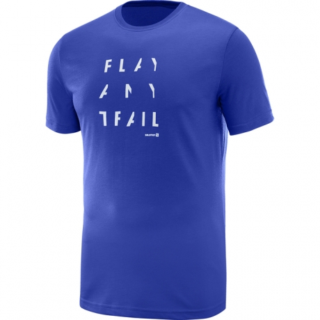Salomon Pulse SS Tech Tee Surf Blue