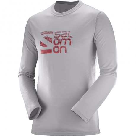 Salomon Pulse LS Tech Tee M Grå