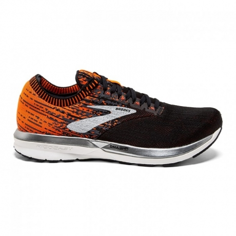 Brooks Ricochet Men Black/Orange Ebony
