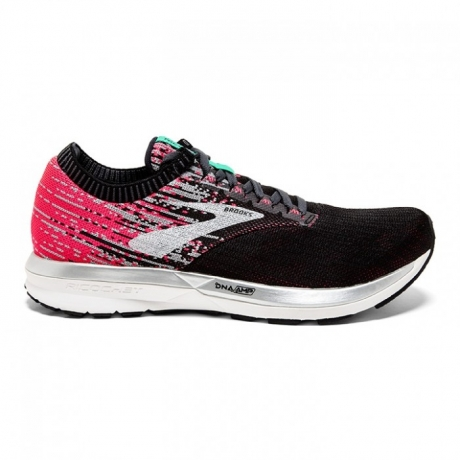 Brooks Ricochet Women Pink/Black/Aqua