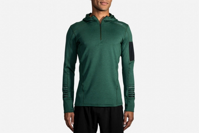Brooks Notch Thermal Hoodie Mens - Heath...