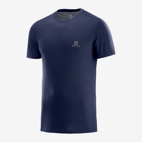 Salomon X Wool SS Tee Herre Night Sky