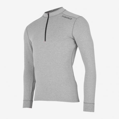 Fusion C3 Zip Neck Light Grey Herre